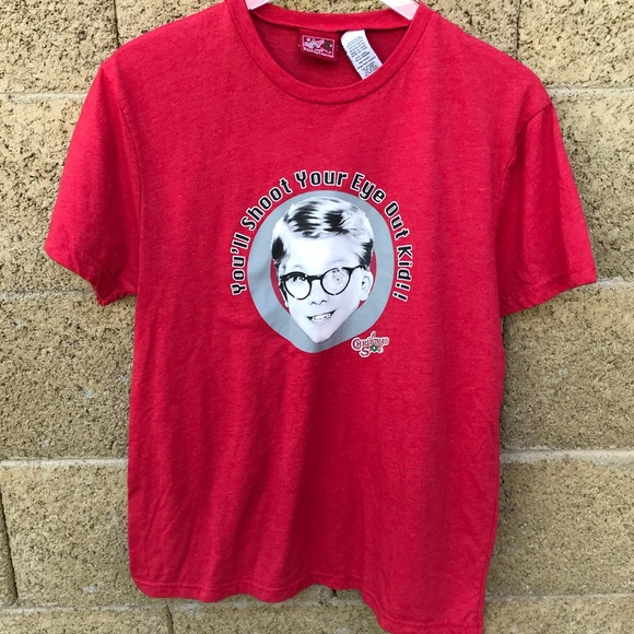 a christmas story red graphic tee shirt 836